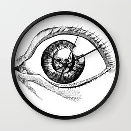 Skull Eye Wall Clock