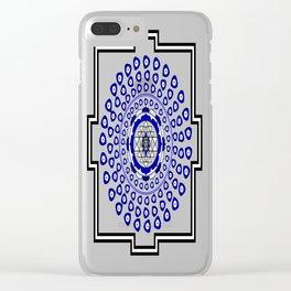 108 Evil Eye Sri Yantra Clear iPhone Case