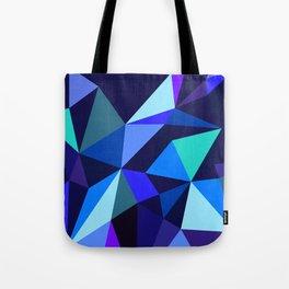 Wooden Geo Blue Tote Bag