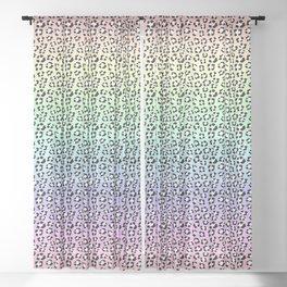 Soft Pastel Rainbow Leopard Spots Leopard Spots Animal Print Sheer Curtain