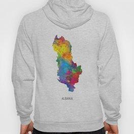 Albania Watercolor Map Hoody