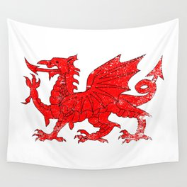 Welsh Dragon With Grunge Wall Tapestry