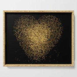 Golden heart Serving Tray