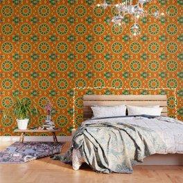Kaleidoscopic Orange Garden Gazanias Wallpaper