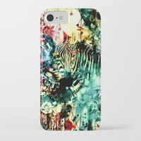 zebra iPhone & iPod Cases featuring ZEBRA by RIZA PEKER
