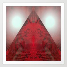 FX#412 - Red Pyramid Bright Art Print