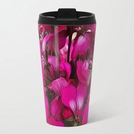 Pink Geranium Travel Mug