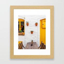 Yellow - Cadaques, Catalunya Framed Art Print