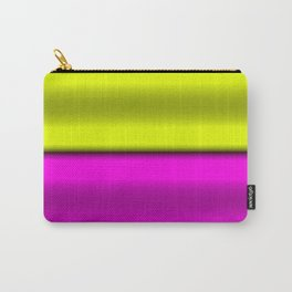 Pink & Yellow  Horizontal Stripes Carry-All Pouch