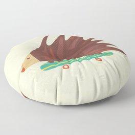 Hedgehog in hair raising speed Floor Pillow
