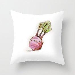 Anxiety Turnip Throw Pillow