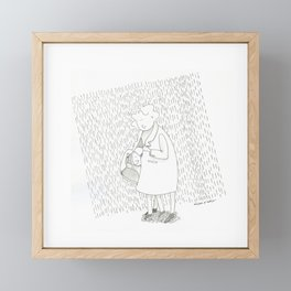 Mother and daughteur | RAIN | Inktober 2019 Framed Mini Art Print