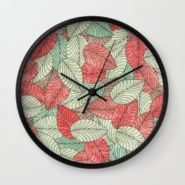 Let the Leaves Fall #12 Wall Clock