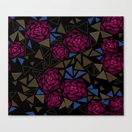 Geometric pattern . Crystals .Roses . Canvas Print
