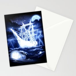 """""""High-Voltage Ghost Ship"""" Stationery Cards"""