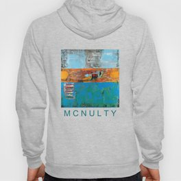 Alligator Blue Orange Modern Abstract Contemporary Art Hoody