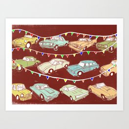 Cars of the 1960's Art Print