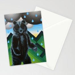 Geometric Black Bear Stationery Cards