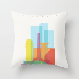 Shapes of Tel Aviv Throw Pillow