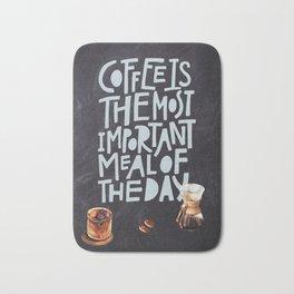 Coffee blackboard lettering — Coffee Bath Mat