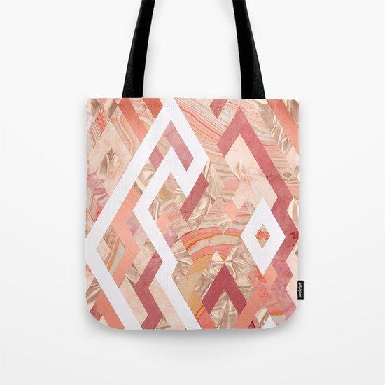 Pink Geometrics Tote Bag