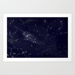 Milky Way galaxy space Art Print