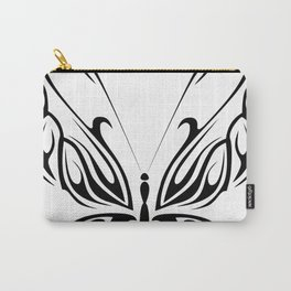 Butterfly Drawing Black and White Pattern Cutest Carry-All Pouch