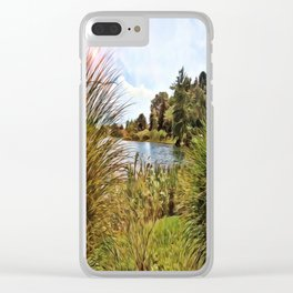 Nature - Sunset Lagoon Clear iPhone Case