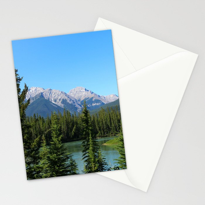 Along The Bow Valley Parkway Stationery Cards