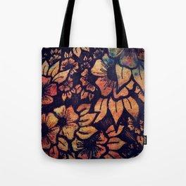 Rainbow Florals  Tote Bag