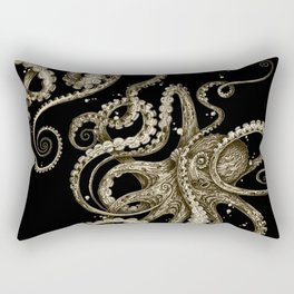 Octopsychedelia Sepia Rectangular Pillow