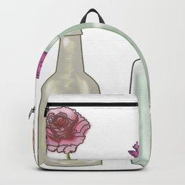 flowers in glass bottles . Pastel floralprint botanica poster prints Backpack