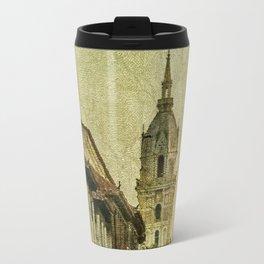 Vintage Grunge Urban View of Cartagena Architecture Travel Mug