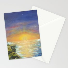 Gozo island, Malta. Malta sunset seascape Stationery Cards