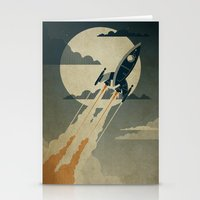 poster Stationery Cards featuring Night Launch by Danny Haas