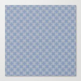 Decorative Blue Print Canvas Print