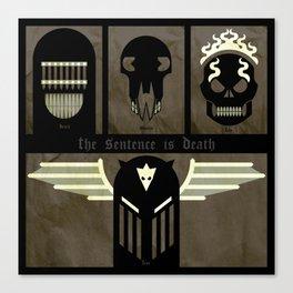 The Dark Judges Canvas Print