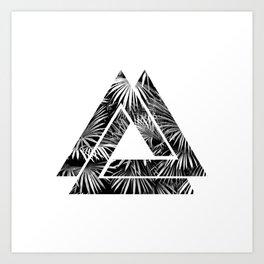 Tropical Triangles Art Print
