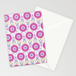 Pink Abstract Pattern Stationery Cards