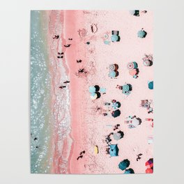 Ocean Print, Beach Print, Wall Decor, Aerial Beach Print, Beach Photography, Bondi Beach Print Poster