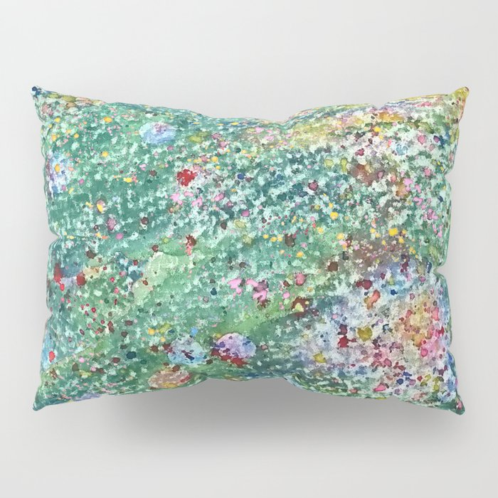 colorful flower filed Pillow Sham