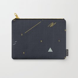 minimalist black #4 Carry-All Pouch