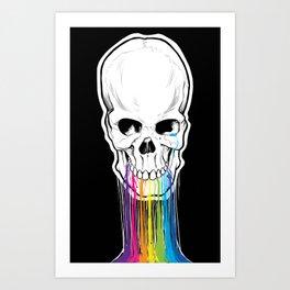 Skulls Are Still Cool Art Print