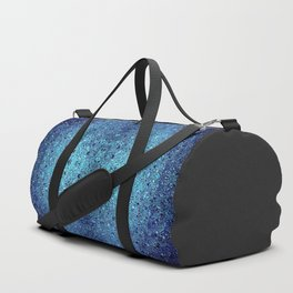 Deep blue glass mosaic Duffle Bag