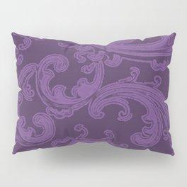 Retro Chic Swirl Royal Lilac Pillow Sham