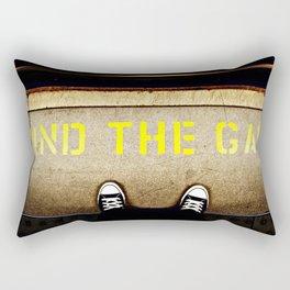 MIND THE GAP PLEASE Rectangular Pillow