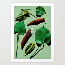 Naked Plants, the illustrated book cover Art Print