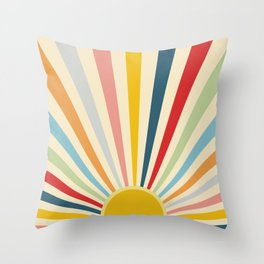 Sun Shines Inside you Throw Pillow