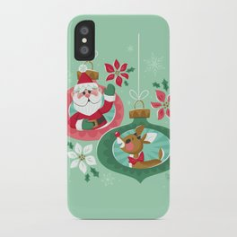 Merry Christmas from Santa & Rudolph iPhone Case