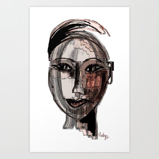 inside her pretty head Art Print